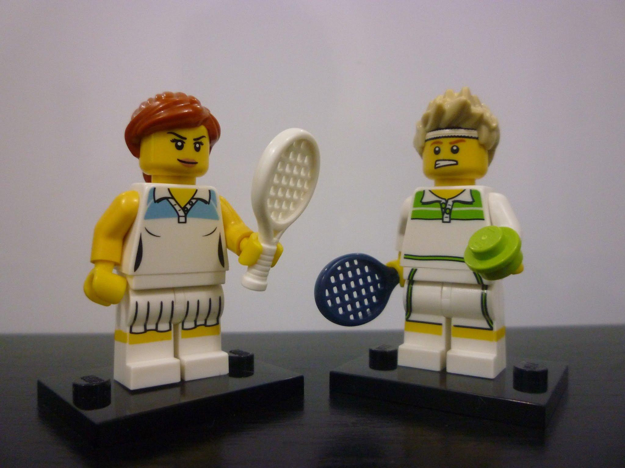 Lady Tennis Player Lego City Mini figure New.