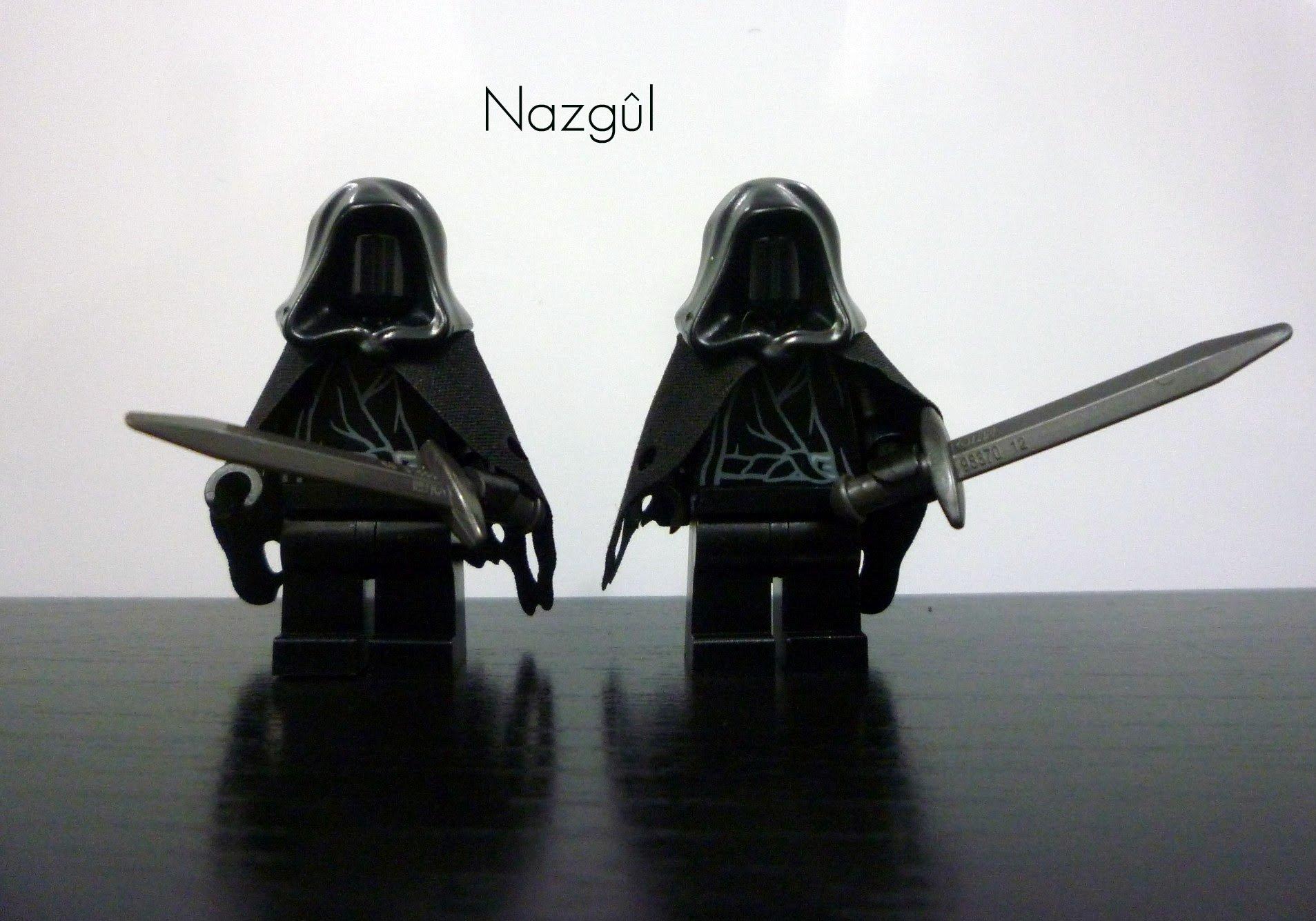 Lego Lord Rings Hobbit Lot 2 Minifigures Ringwraith Nazgul w// Black Horse 9472!