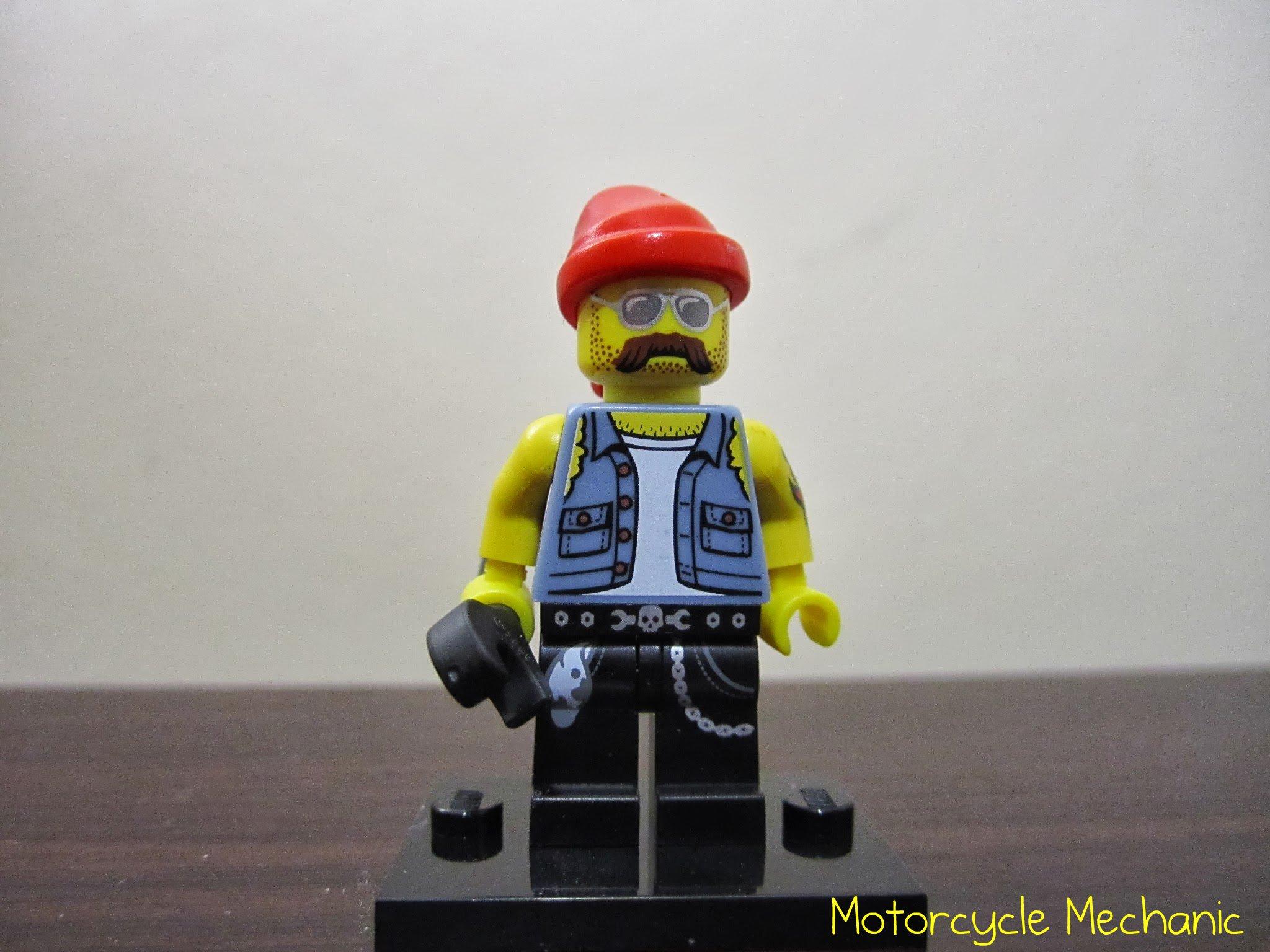 2013 Biker Motorcycle Mechanic LEGO Collectible minifigure series 10
