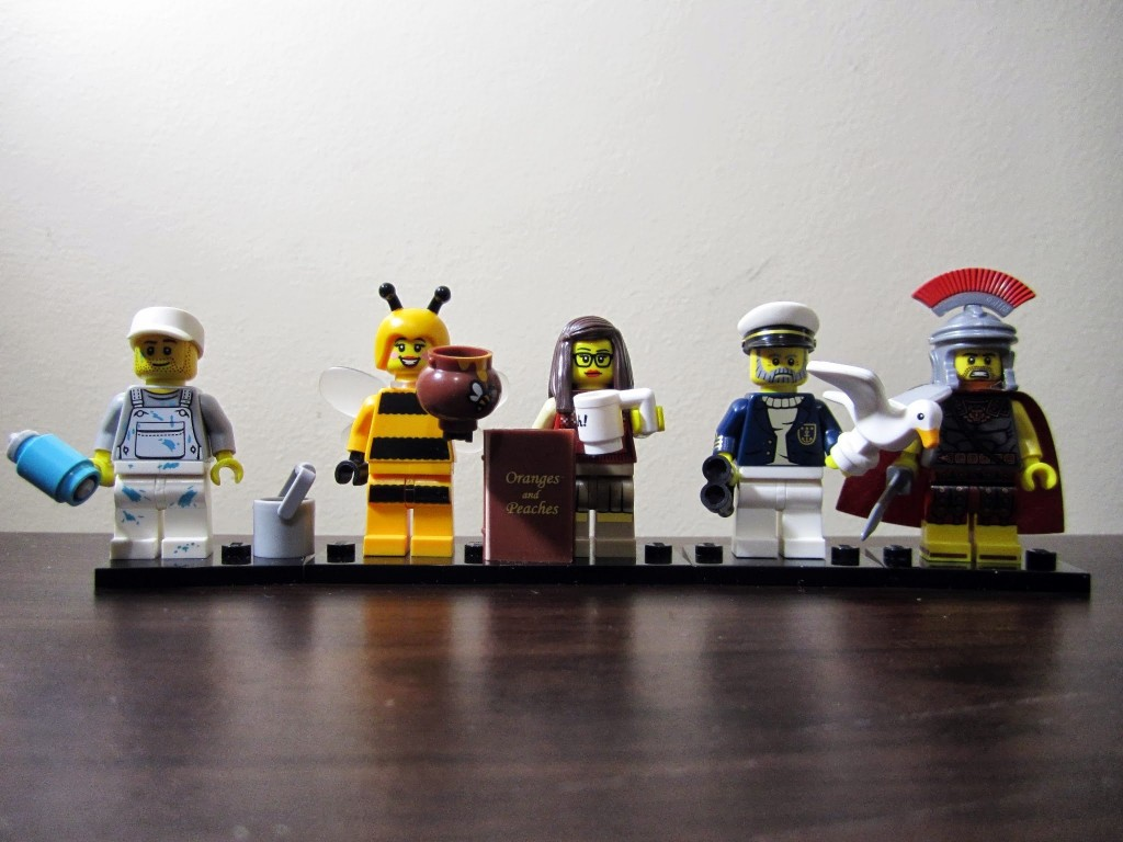 series-10-decorator-bumblebee-girl-librarian-sea-captain-roman-commander