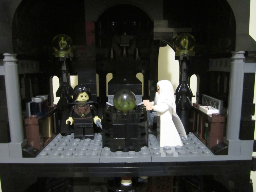 Lego Orthanc Palantir Room