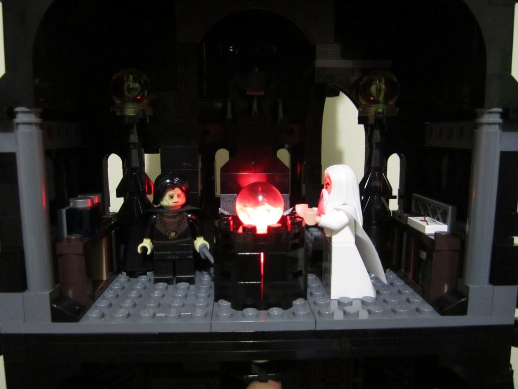 Lego Orthanc Palantir Illuminated