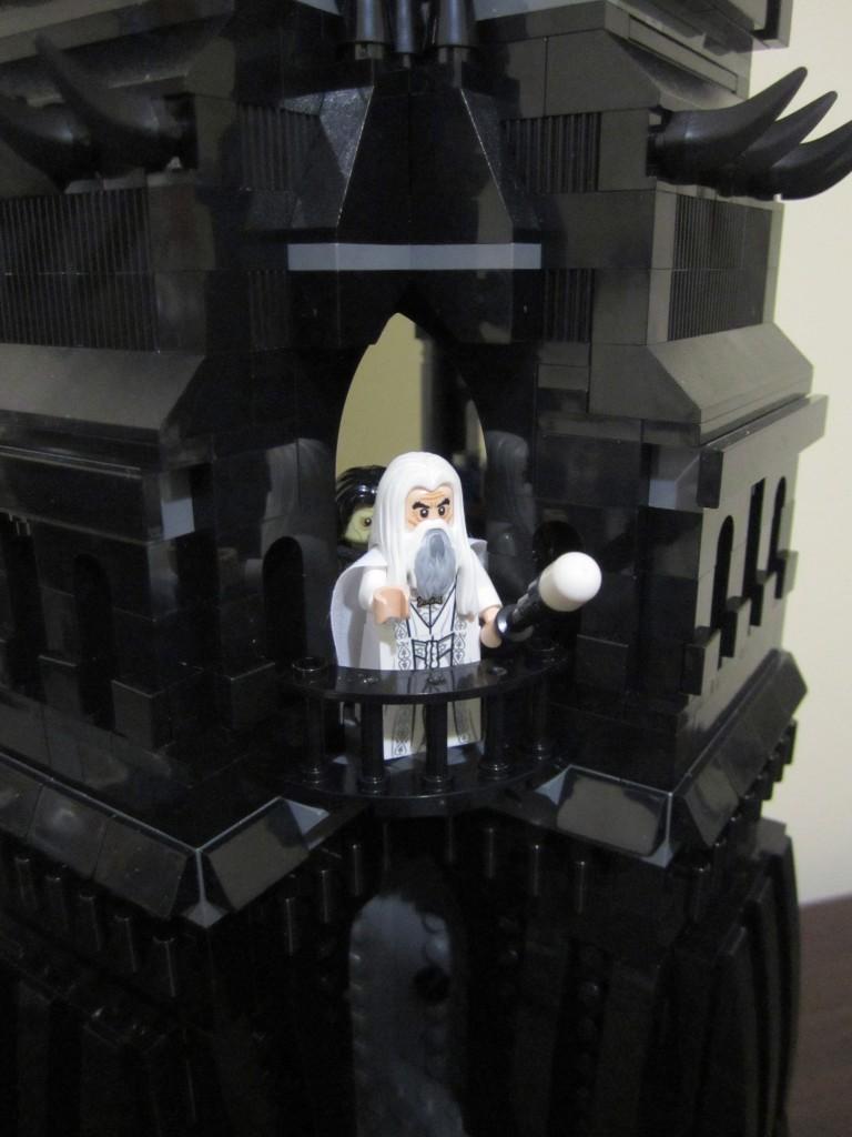 Lego Orthanc Saruman on Balcony