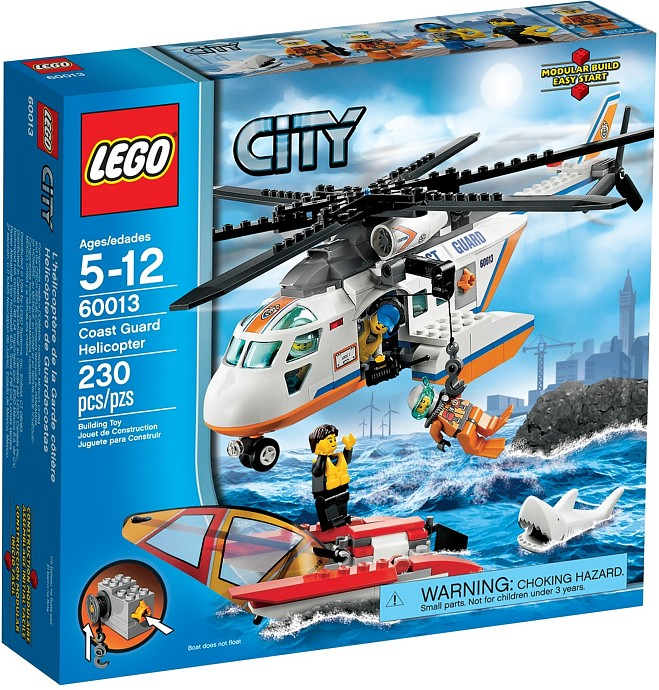 Lego Shark Toys For Boys : Review lego coast guard helicopter