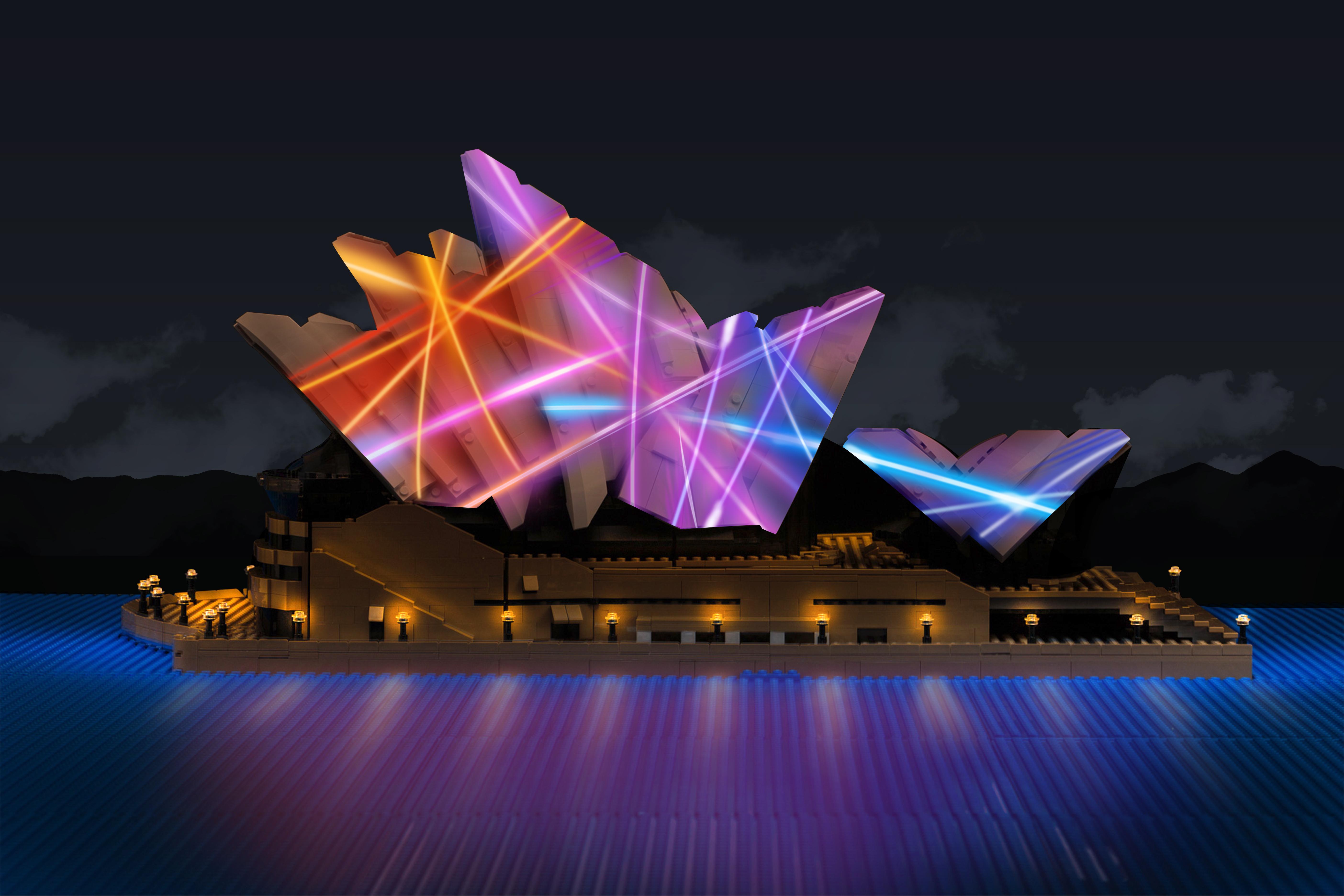 Lego Sydney Opera House Lights