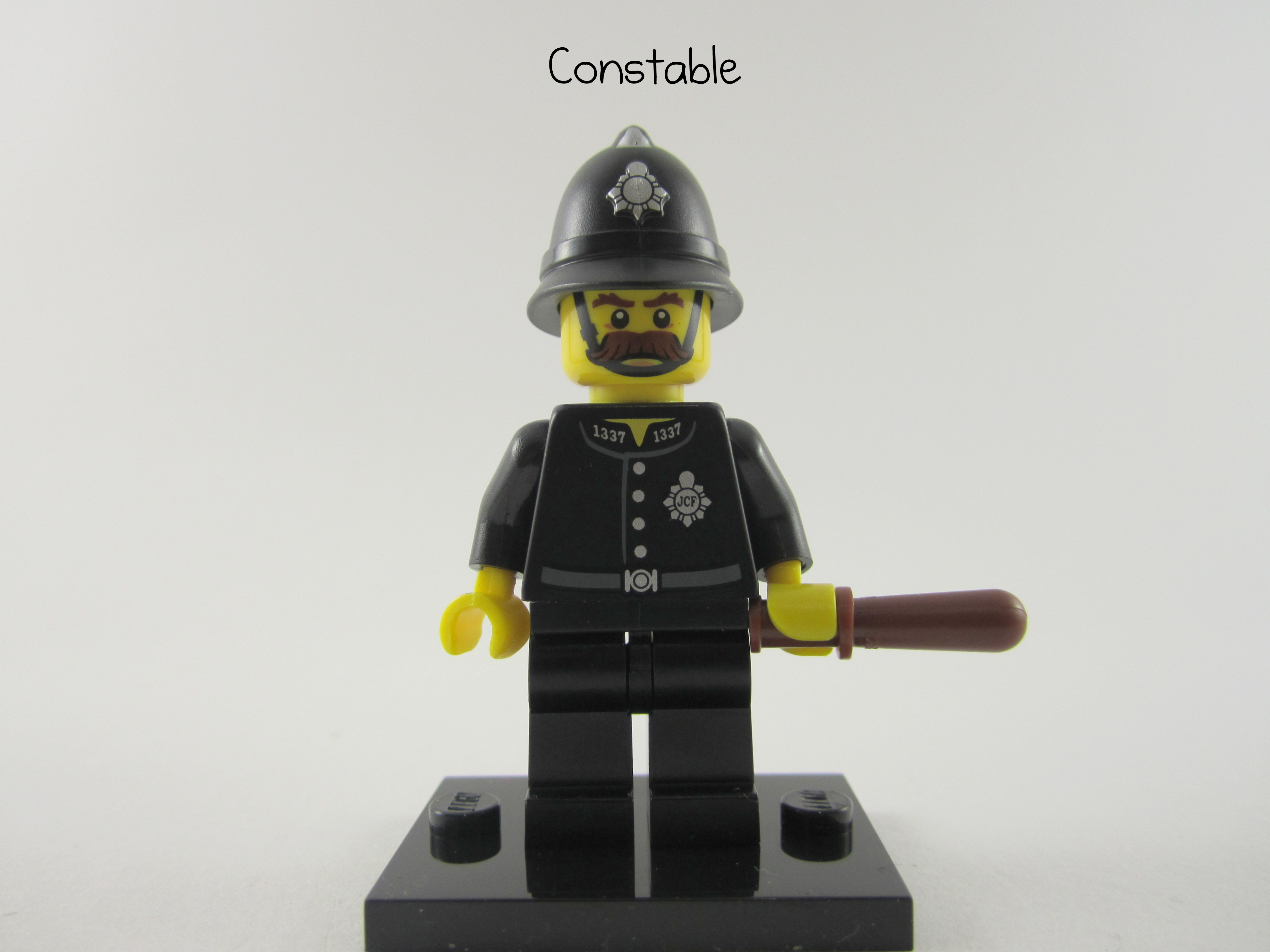 LEGO Black UK Police Cop Minifigure Constable