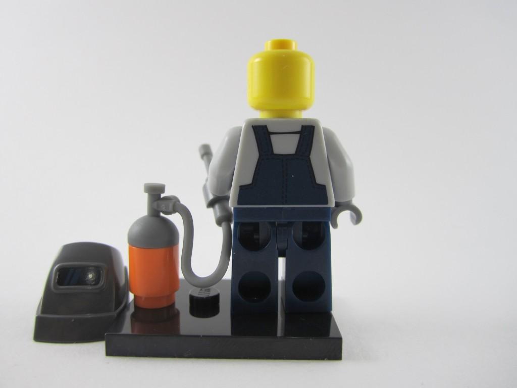 Lego Collectible Minifigures  Welder Back