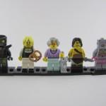 Lego Minifigures Series 11 - Evil Mech, Pretzel Girl, Grandma, Barbarian, Evil Robot
