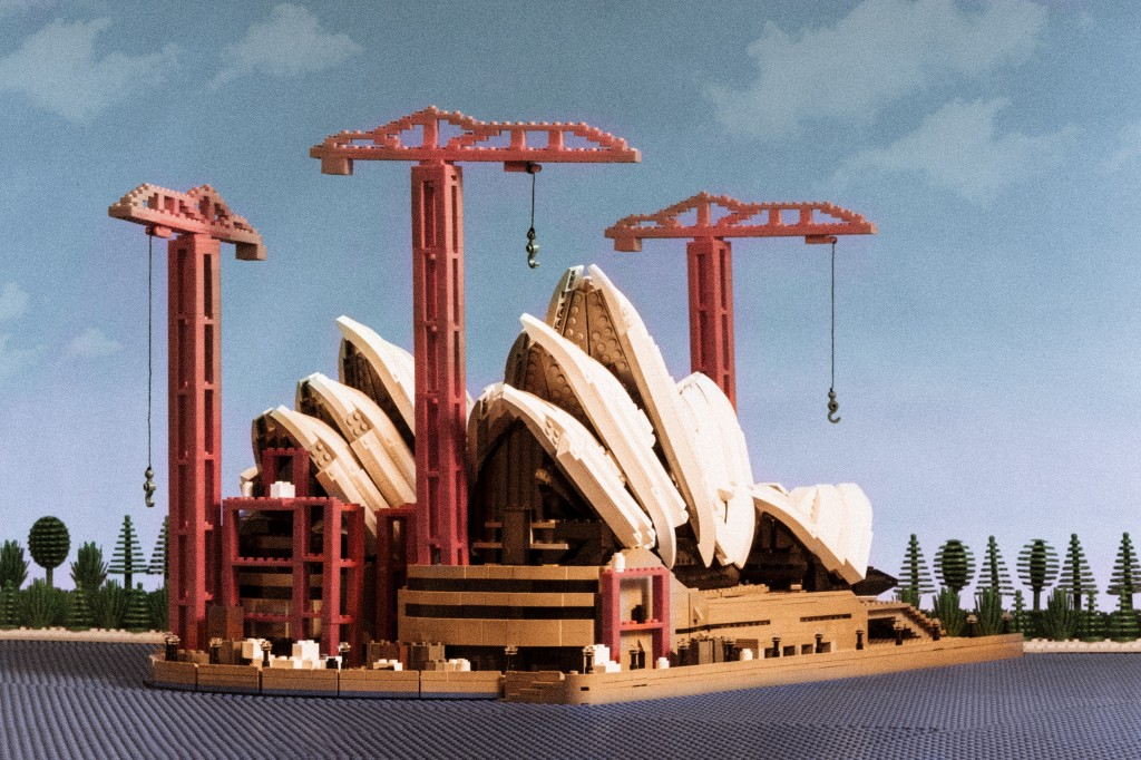 Lego Sydney Opera House Construction