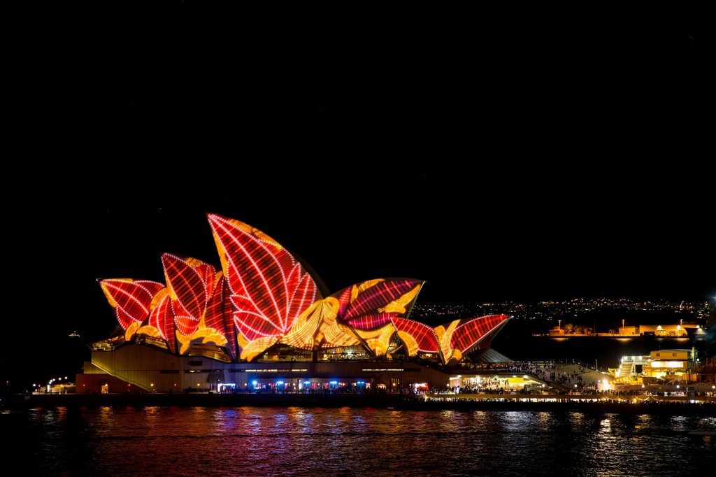 The Sails of the Opera House - Vivid Sydney 2013