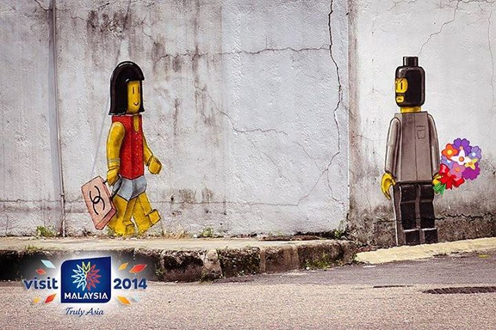 Lego Mural by Ernest Zacharevic