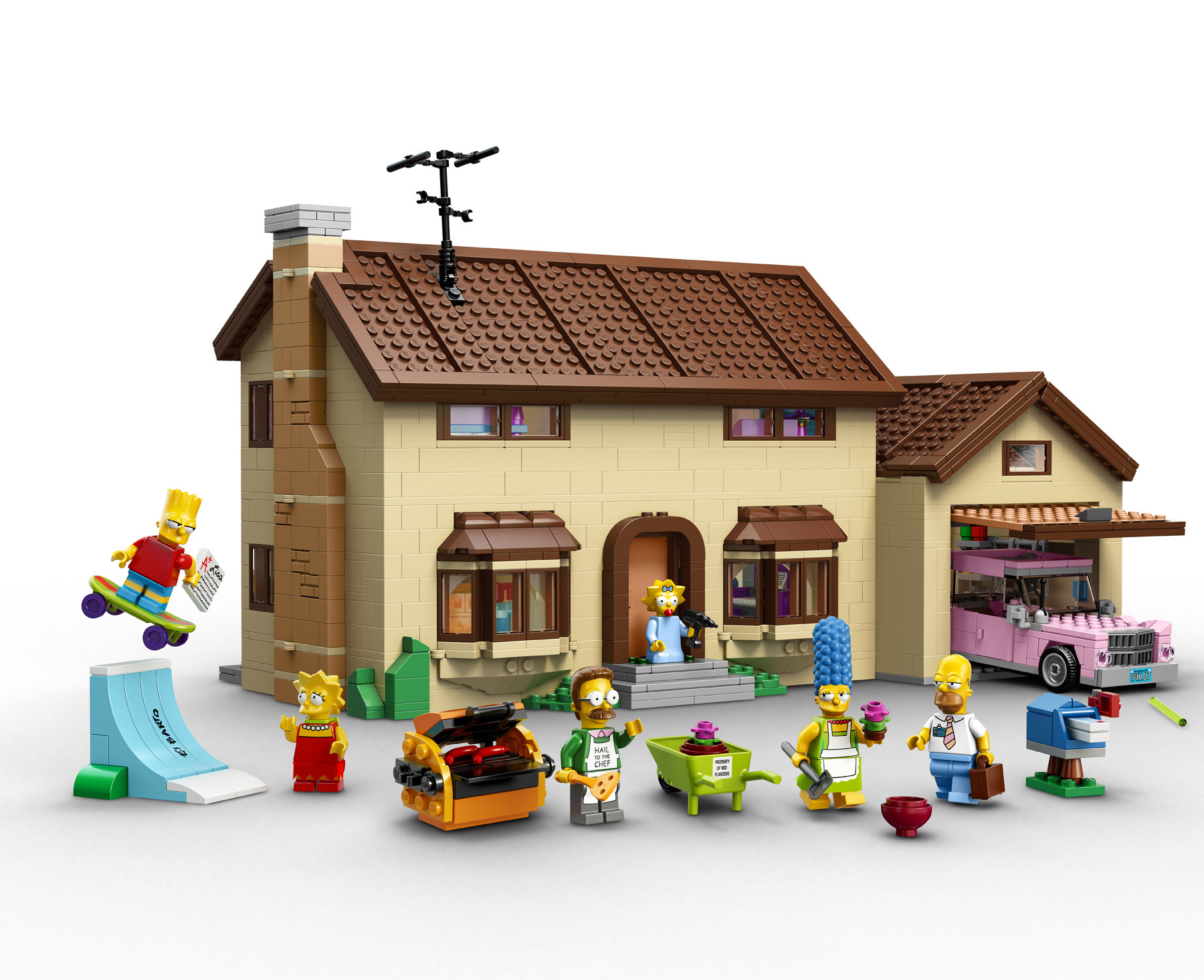 Lego officially announces the simpsons family house 71006 for Evergreen terrace 742