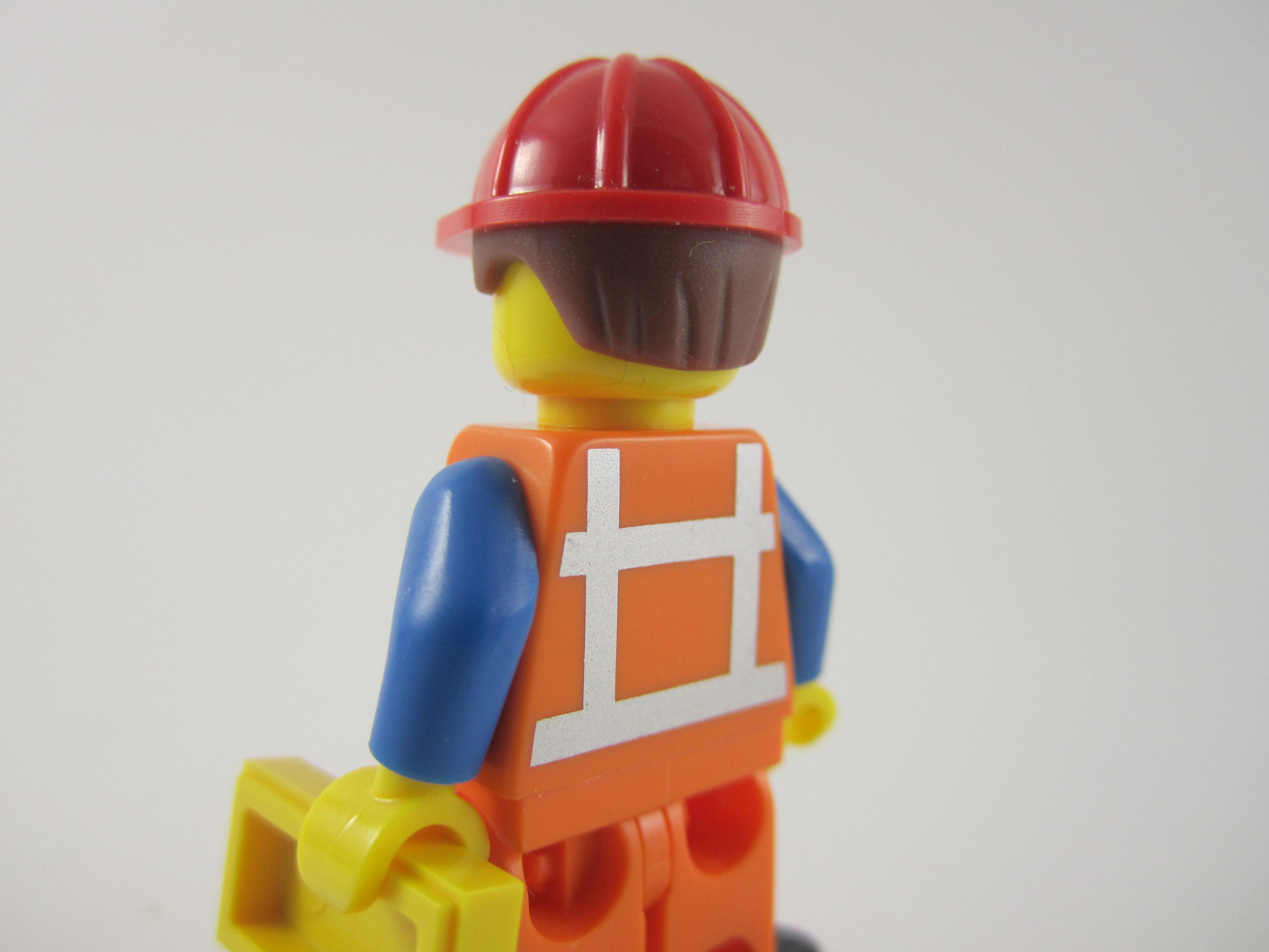 Lego Movie Hard Hat Emmet Back