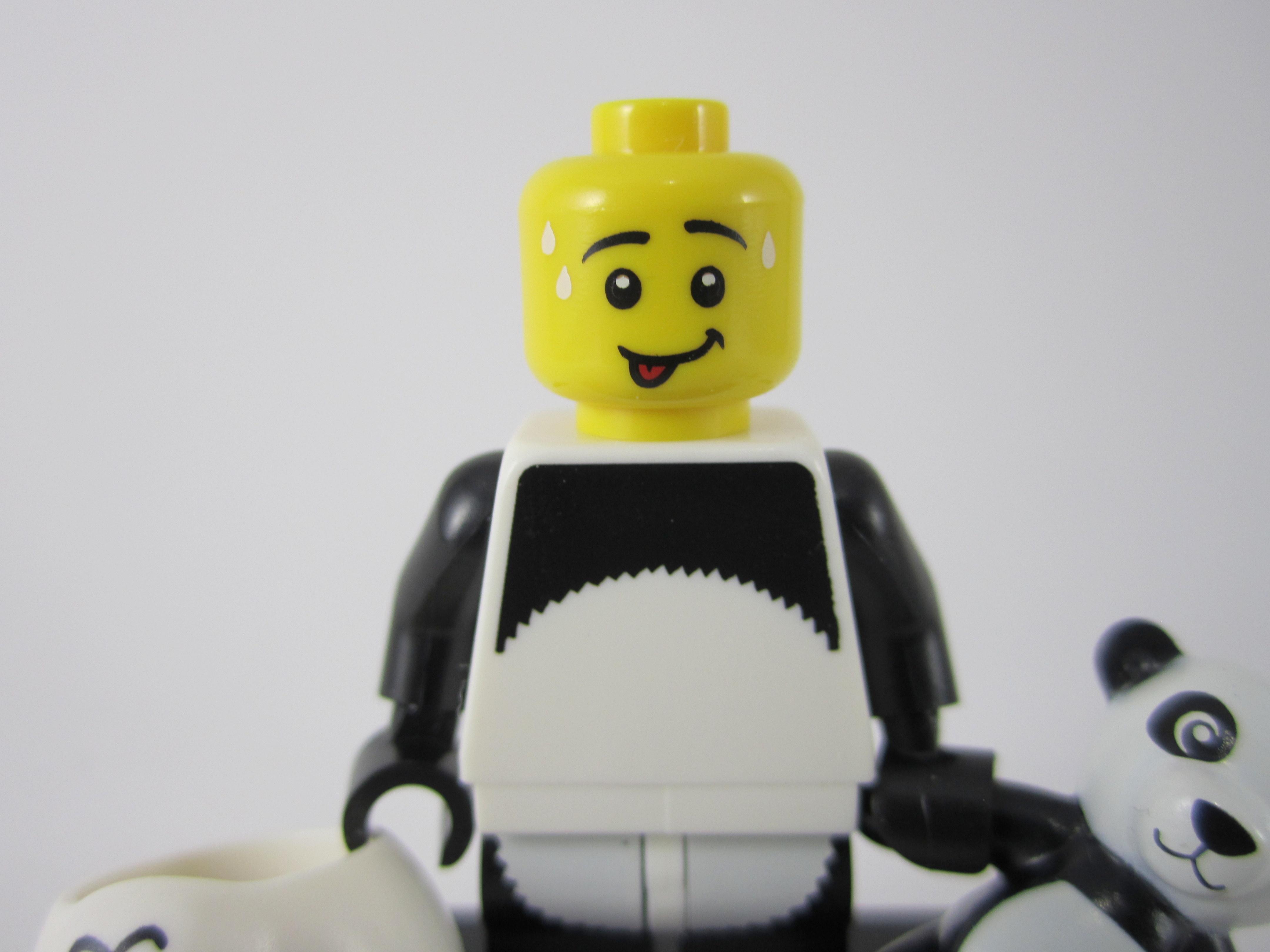 Lego Panda Guy Face