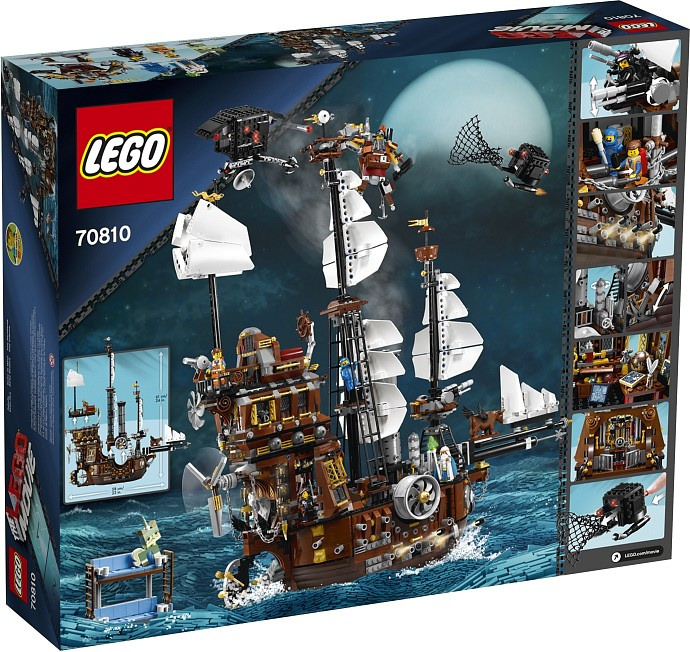 70810 - LEGO Movie Metalbeard's Sea Cow Box Back
