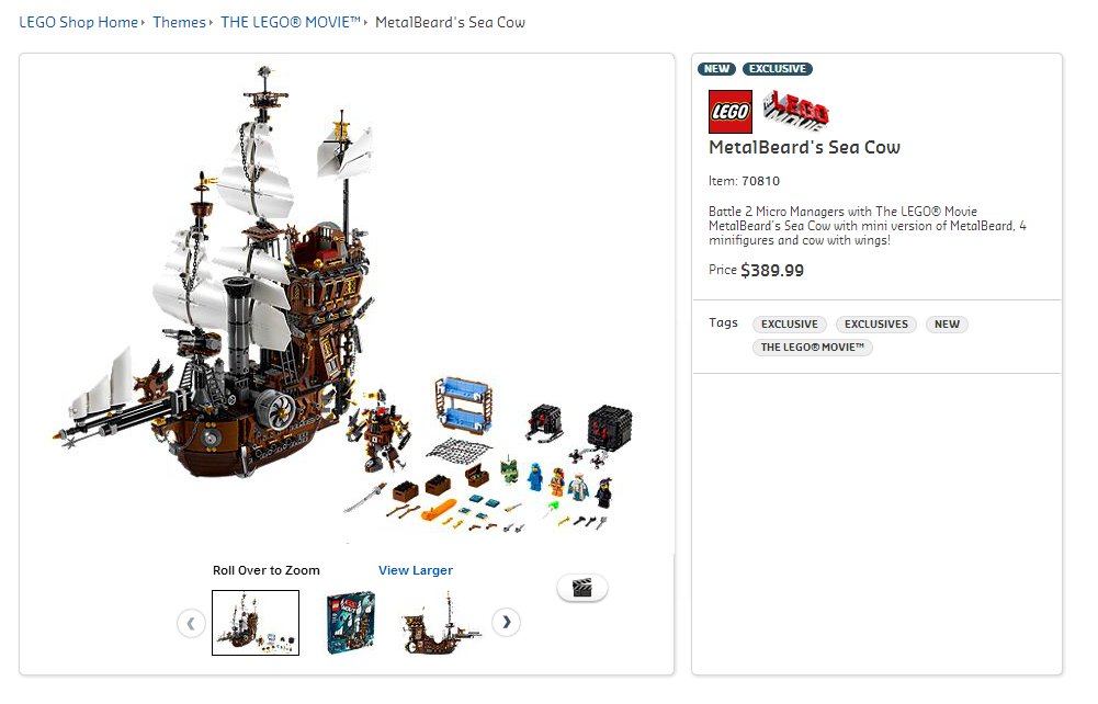 70810 - Metalbeard's Sea Cow Australian Price
