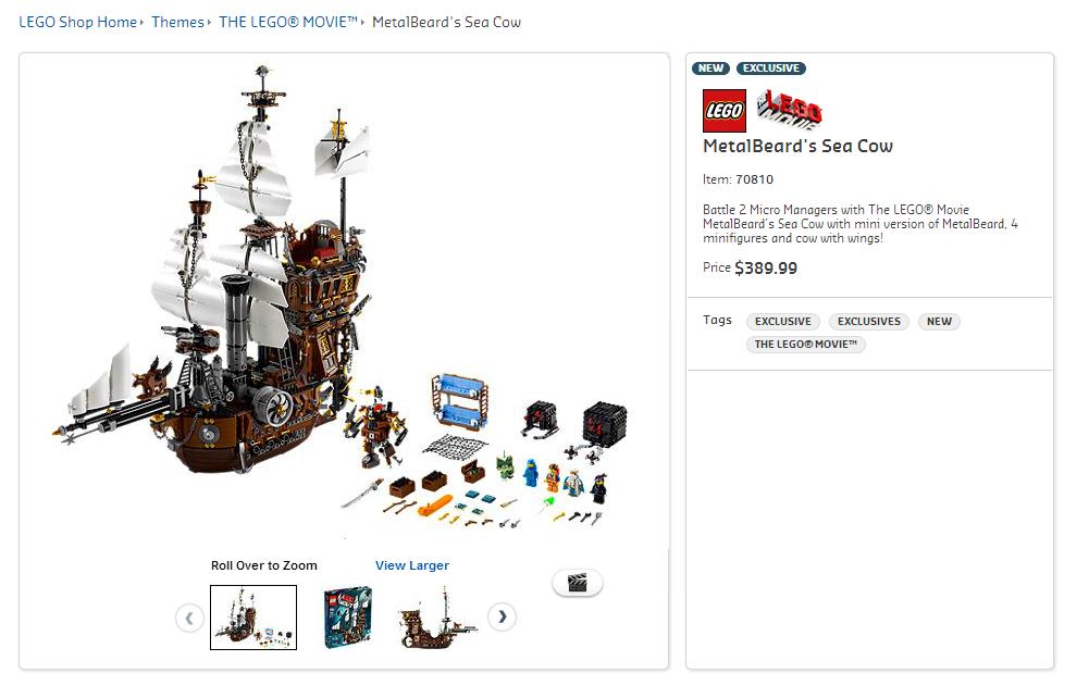 The Lego Movie S Metalbeard S Sea Cow To Cost Au 389 99 In Australia Jay S Brick Blog