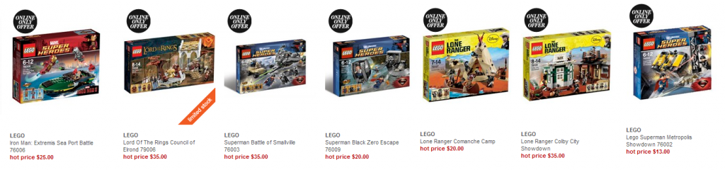 Myer Online LEGO Clearance February 2014