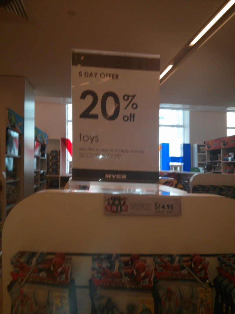Myer 5 Day LEGO Sale April