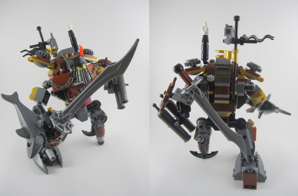 LEGO 70807 Metalbeard's Duel Front and Back