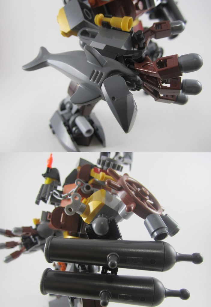 LEGO 70807 Metalbeard's Duel Shark Twin Cannons