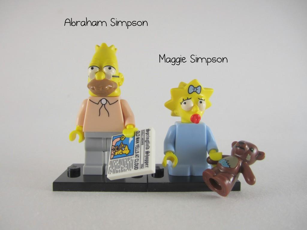 LEGO Grampa Maggie Simpson