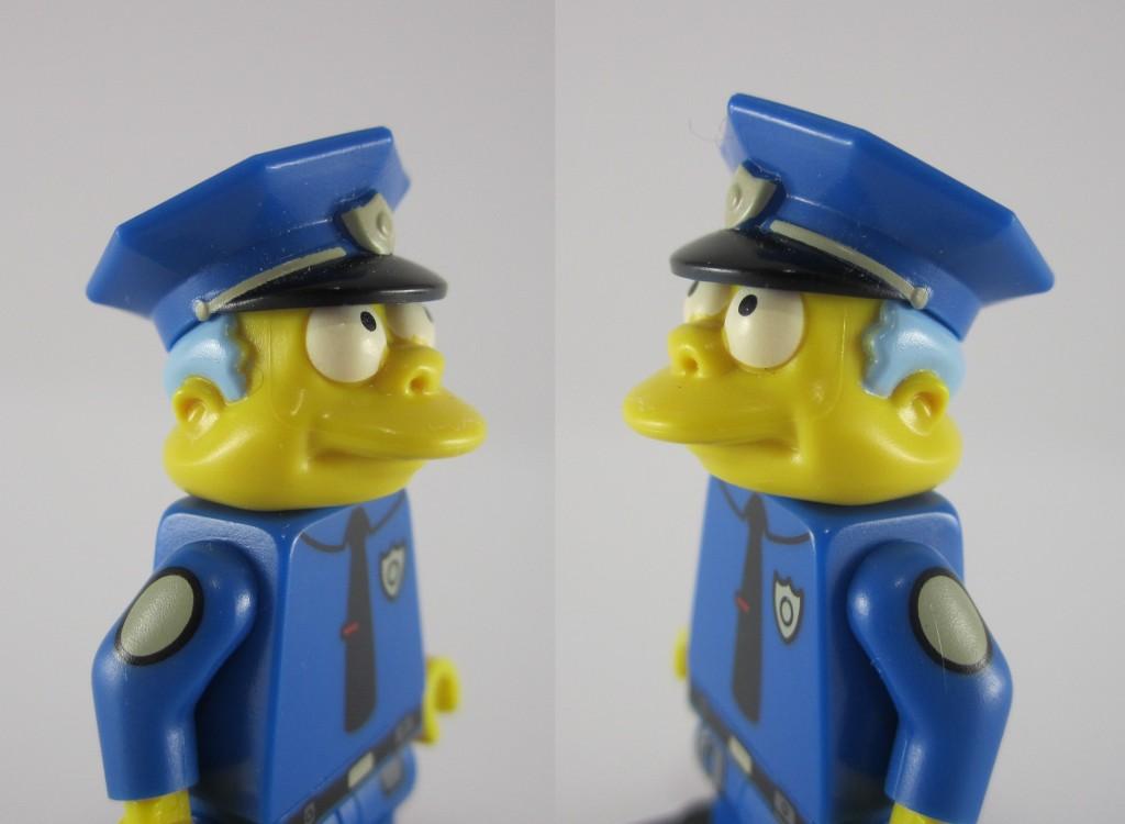 LEGO Chief Wiggum Face Closeup