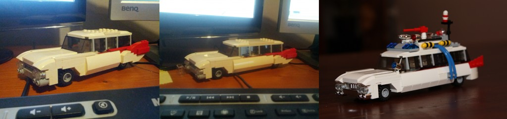 LEGO Ghostbusters Ecto-1 Prototypes