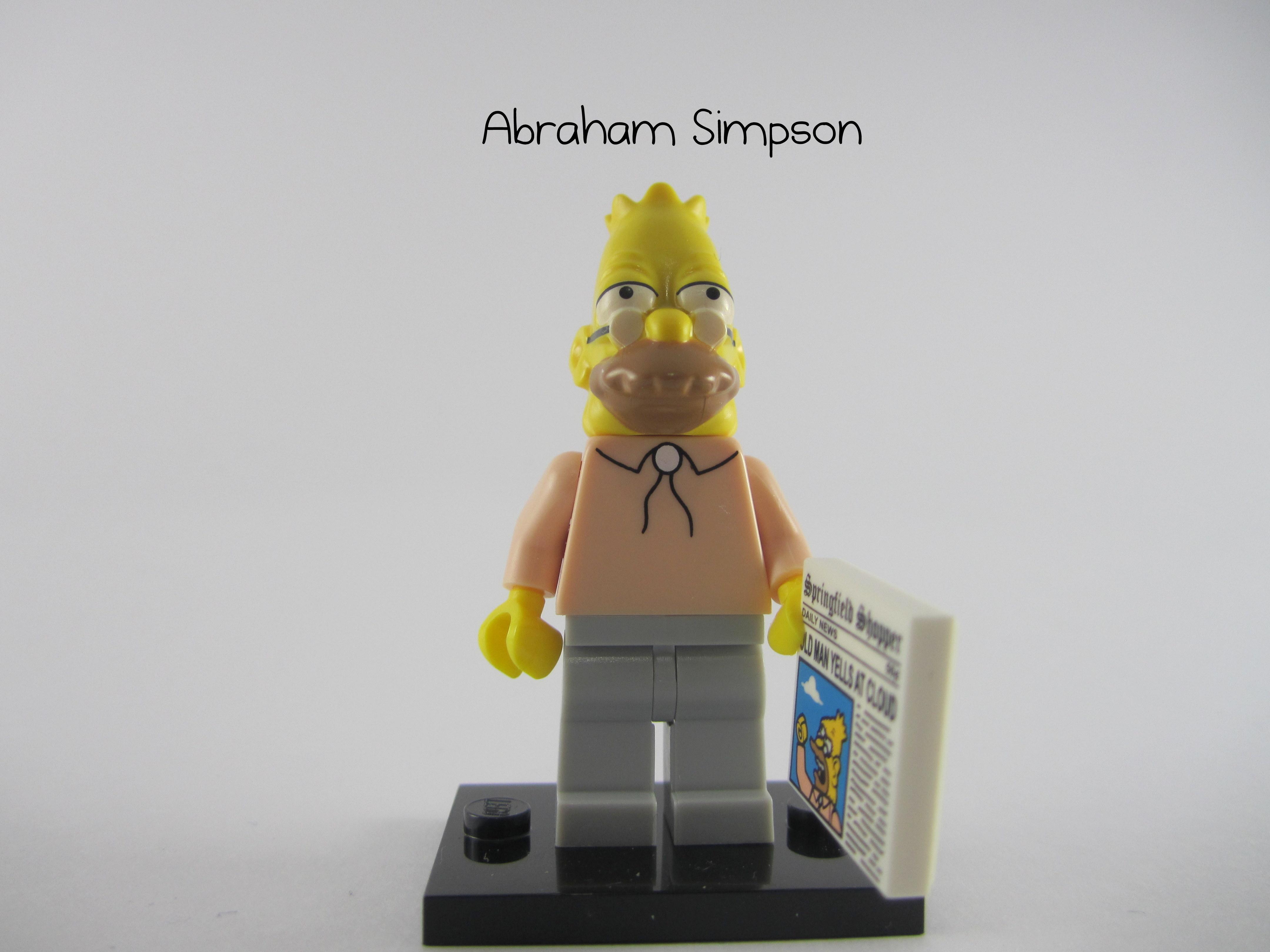 Simpsons Series 1 lego mini figure GRAMPA ABE