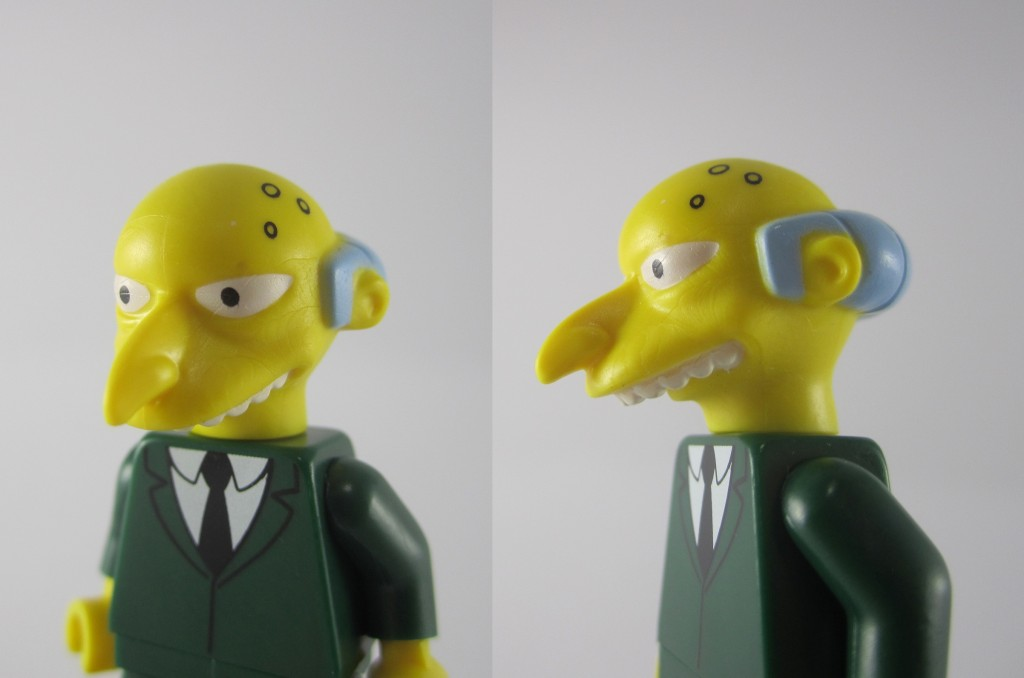 LEGO Mr Burns Face Close Up