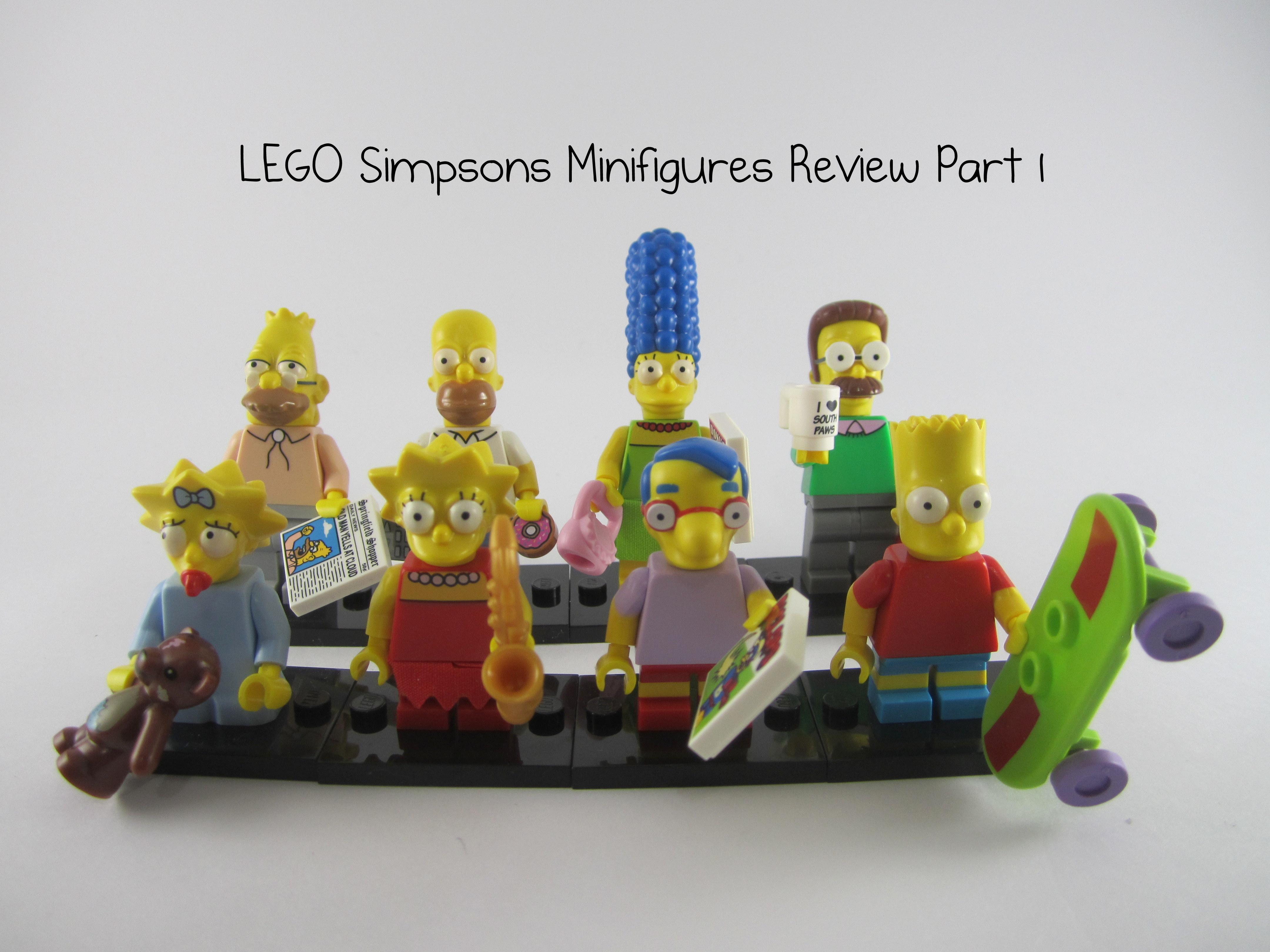 Lego bart simpson the simpsons choose parts legs torso head skateboard wheels