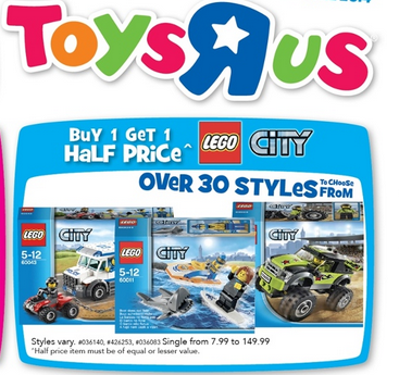 Toys R Us Sale Buy 1 Get 1 Half Price
