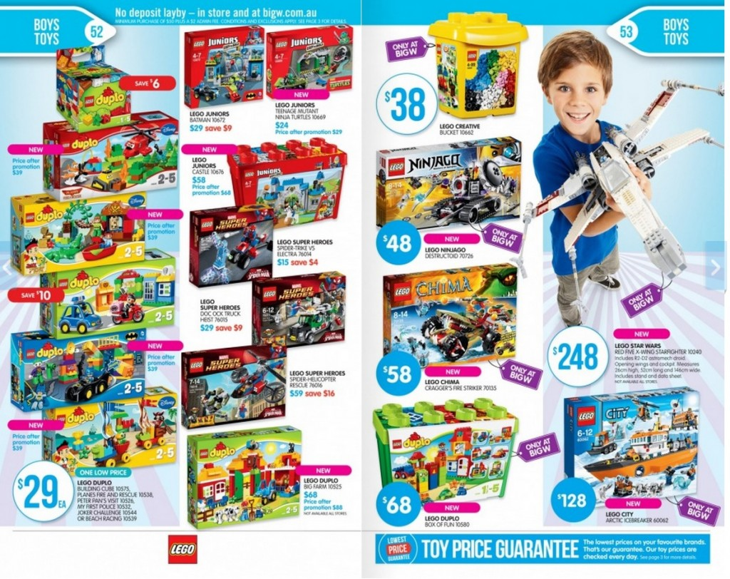 Big W LEGO Sale 2014 Page 1