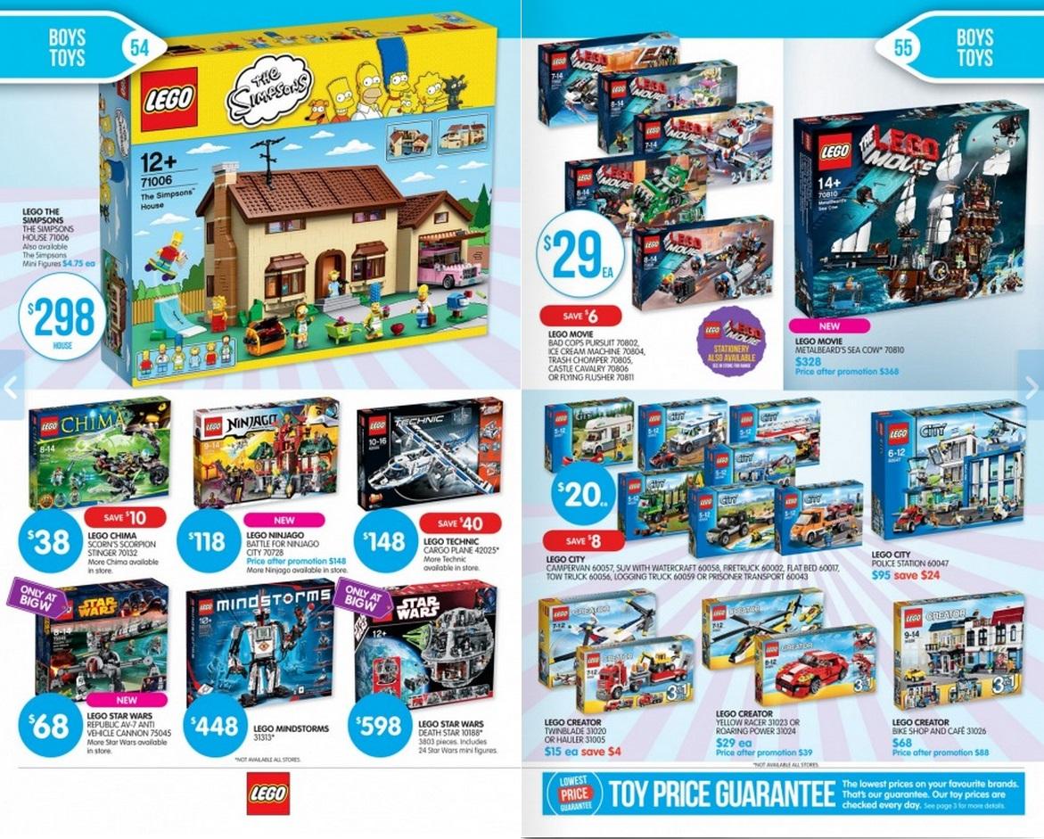 Big W LEGO Sale 2014 Page 2 W Catalogue