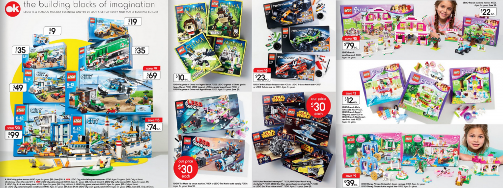 Kmart LEGO Toy Sale 2014