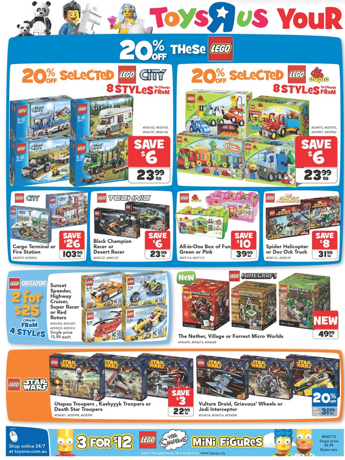 Australian Lego Sales June 2014 Midyear Toy Sale Edition