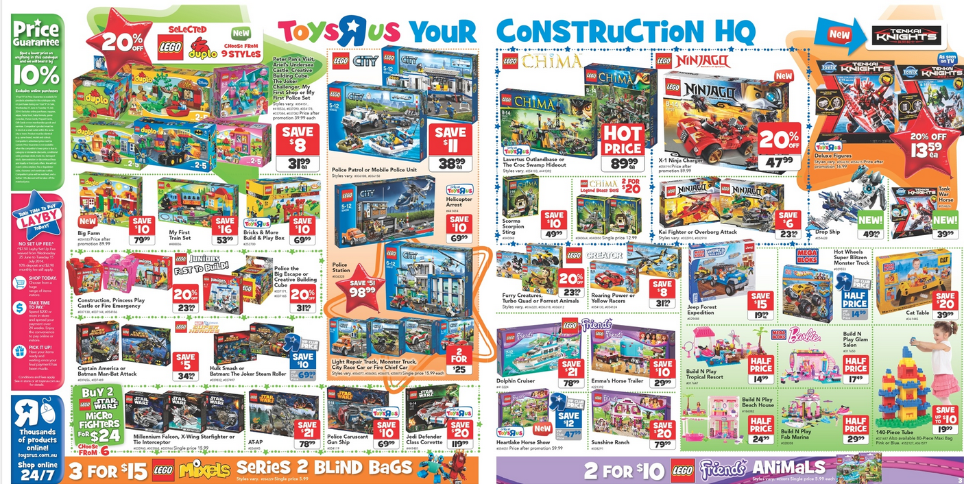 Toy R Us Store Catalog : Australian lego sales june midyear toy sale edition