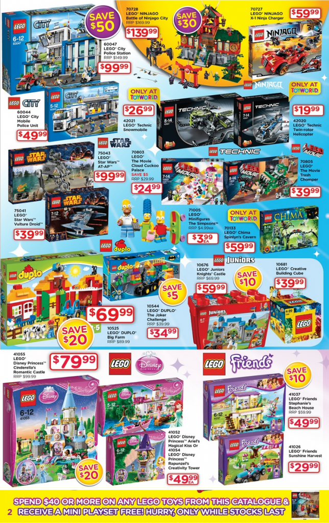 Toyworld LEGO Toy Sale June 2014