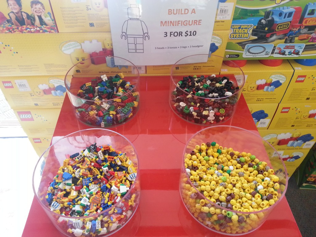 Build 3 minifigures for $10 from an assortment of parts