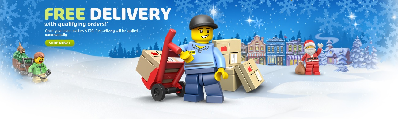 LEGO Australia Holiday Free Shipping