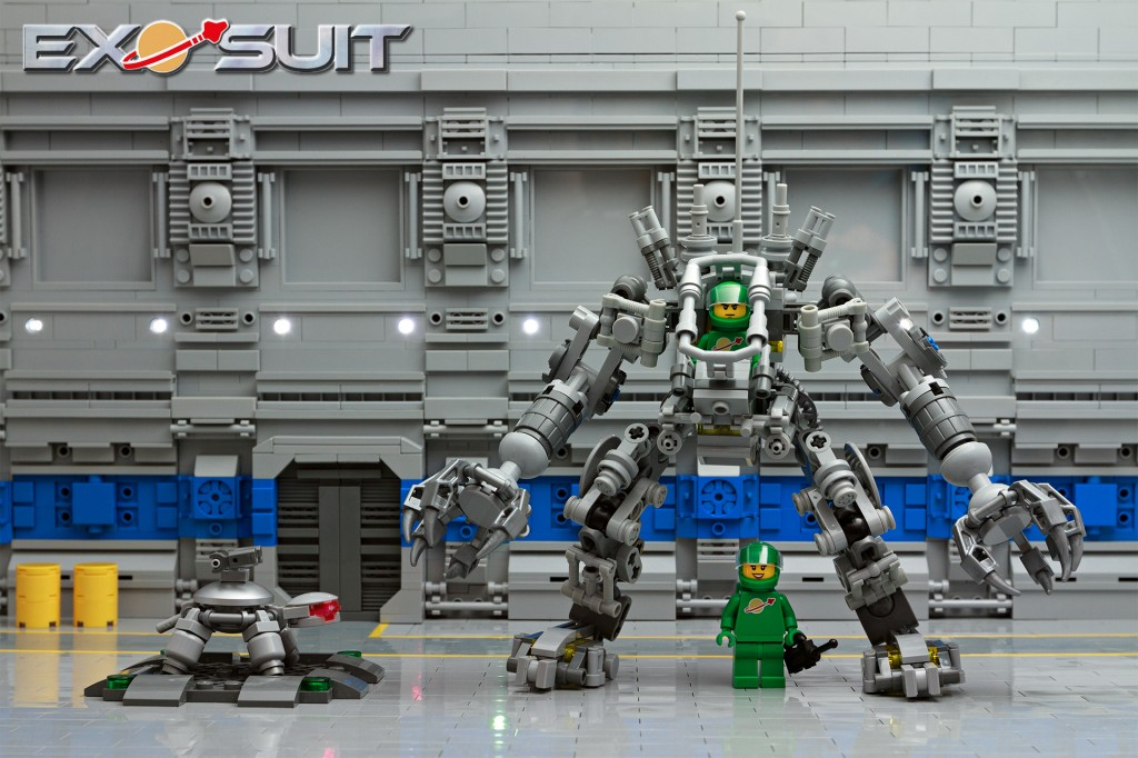 LEGO Exo-Suit in Hangar