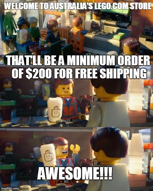 Lego Emmet Barista Rip Off scene
