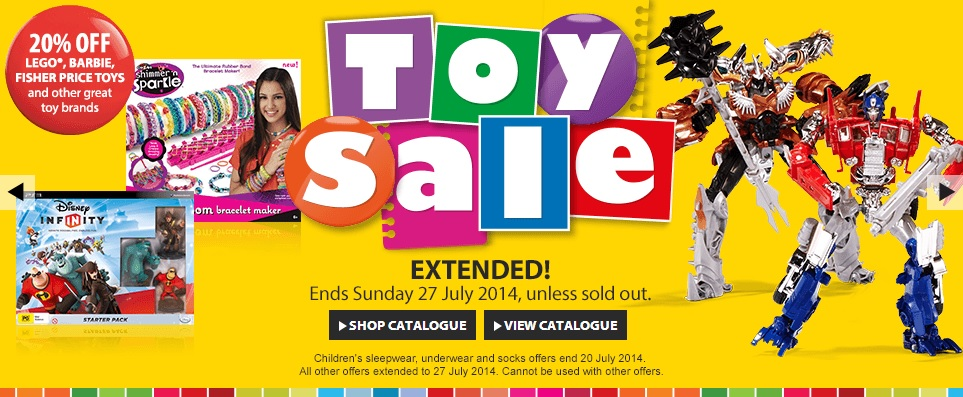 Myer June Toy Sale Extended