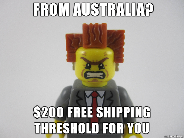 President Business on LEGO Australia's Shipping