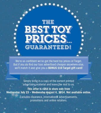 Target Sale Toy Price Guarantee 2014