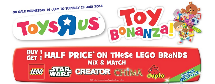 Toys R Us Toy Bonanza 17 July to 29 July LEGO
