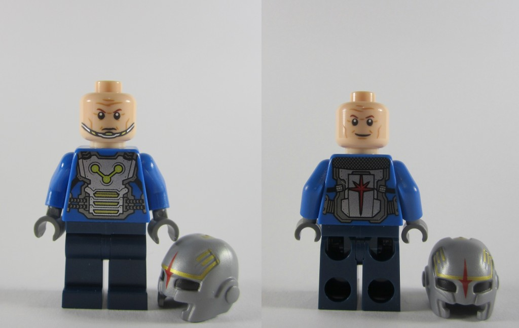 LEGO 76019 Starblaster Showdown Nova Corps Officer Alternate Face