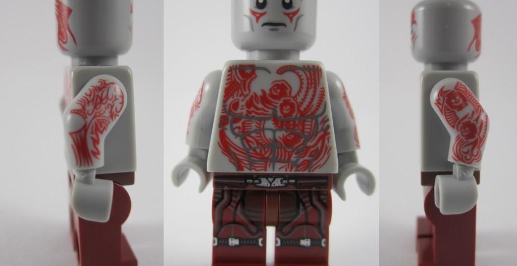 LEGO 76021 The Milano Spaceship Rescue Drax Tattoos