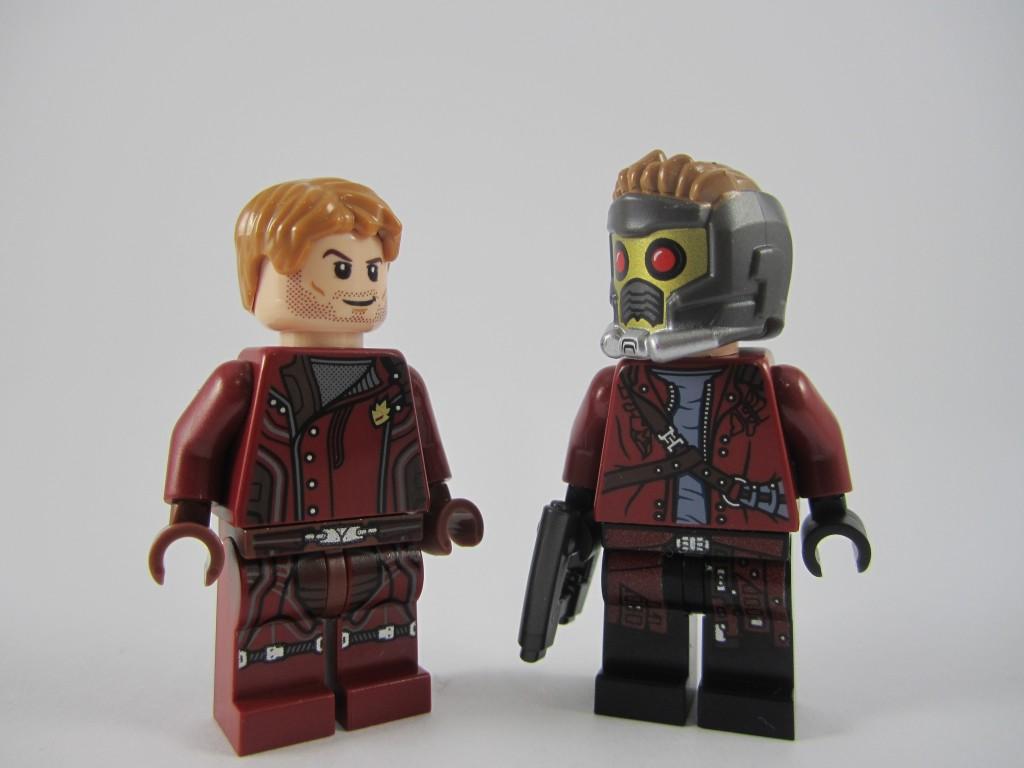 LEGO 76021 The Milano Spaceship Rescue Star-Lord Comparison