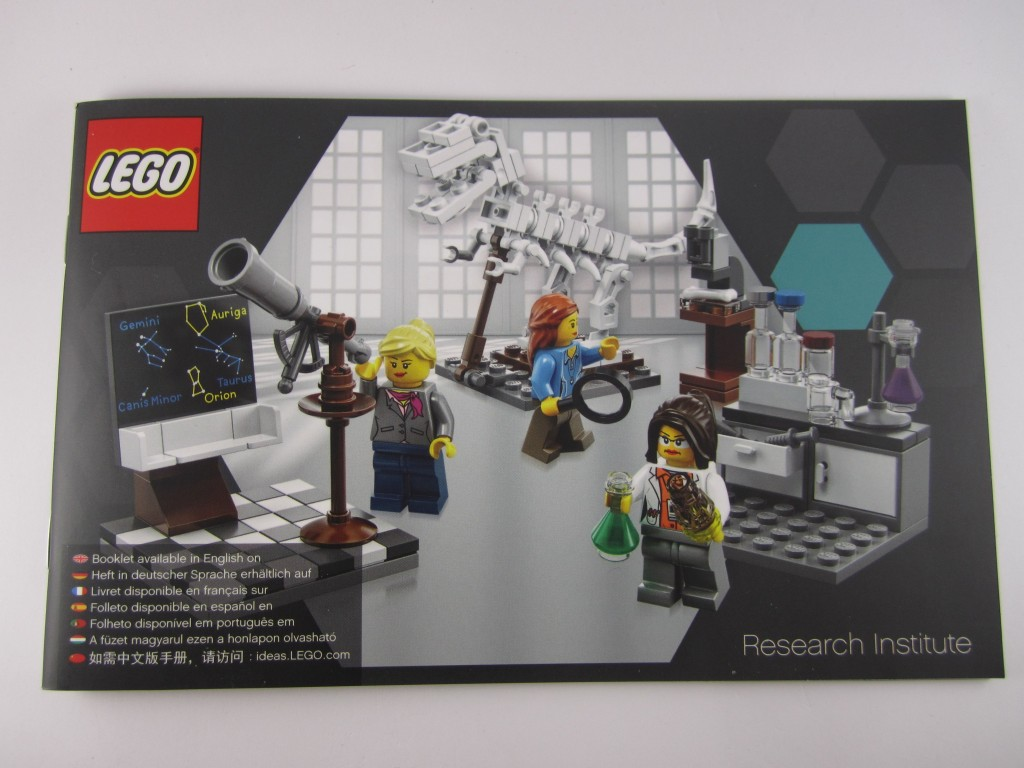 LEGO Ideas 21110 Research Institute  Manual